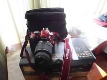 NIKON D3200 18-55 VR Lens kit... RED... Happy Valley Morphett Vale Area Preview