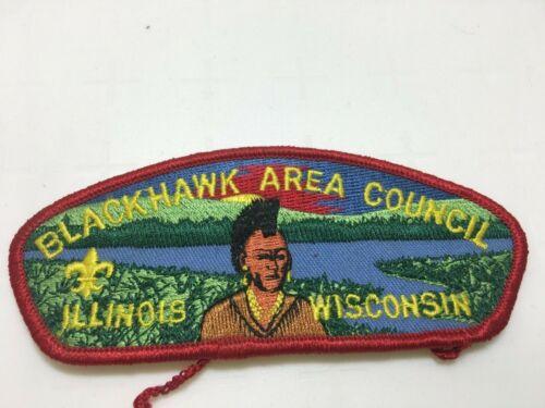 BSA Boy Scouts Patch Blackhawk Area Council Illinois Wisconsin