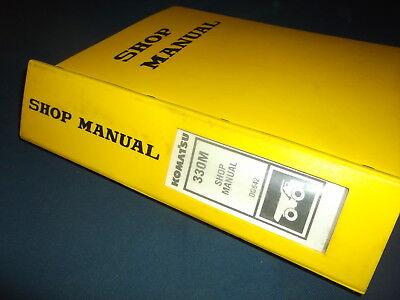 Komatsu 330m Dump Truck Service Shop Repair Book Manual Oem Original