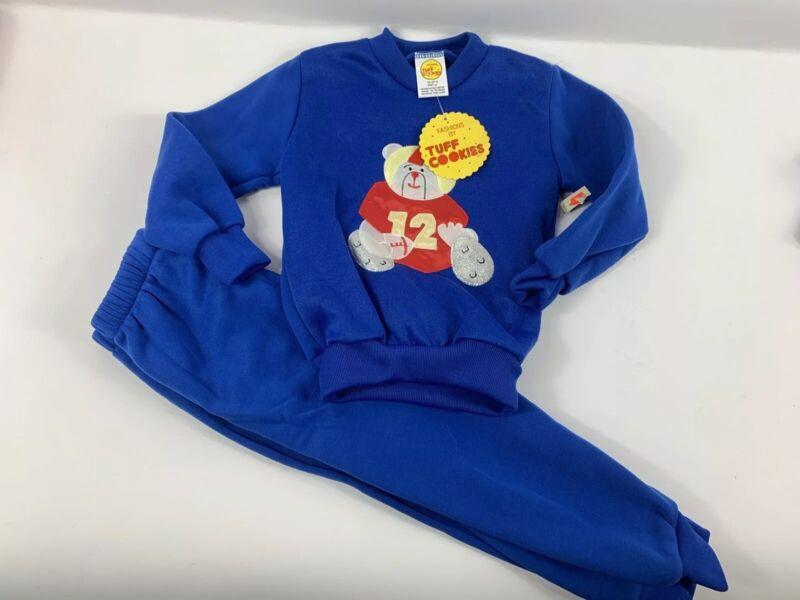 New TUFF COOKIES Vintage NOS Sweatsuit Set Pants 4T Toddler Jogger Sweatshirt