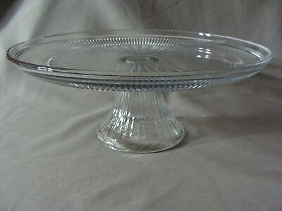 NEW Anchor Hocking Clear Glass Pedestal Cake Stand ()