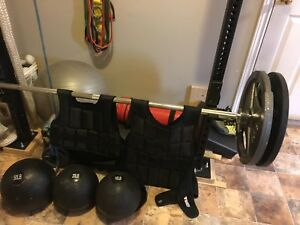 Weights and  work out equipment