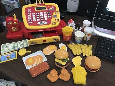 Fisher Price McDonald's Fun with Food Talking Cash Register & Food Lot