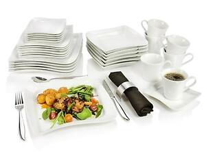 tafelservice weiss komplett service ebay. Black Bedroom Furniture Sets. Home Design Ideas