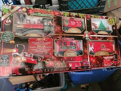 EZTEC G-Gauge North Pole Express Remote Control Animated Christmas Train Set