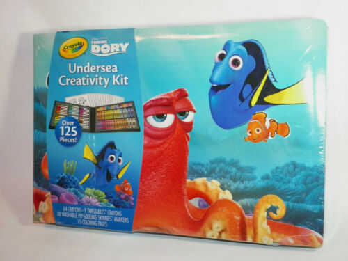 Crayola Finding Dory Art Kit Art Gift, 125 Pieces, NEW SEALED FREE SHIP