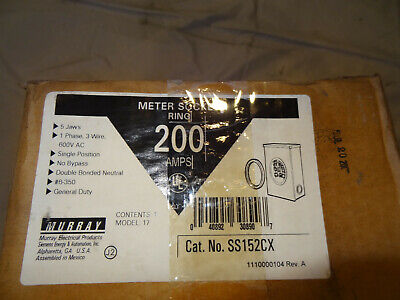 Murray Ss152cx Electrical Meter Socket Ring 200amps-open