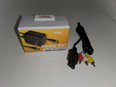 Nuevo Ttx Snes Adaptador de Corriente Ca Av Cable Recambio Para super...