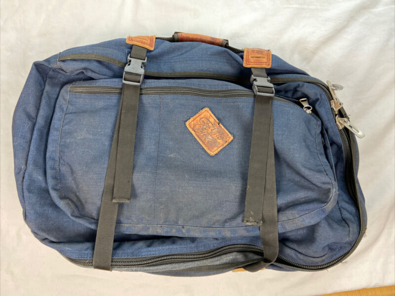"""Vintage Eagle Creek Travel Navy Blue Carry on Luggage/Backpack  22"""" x 14"""" x 8"""""""