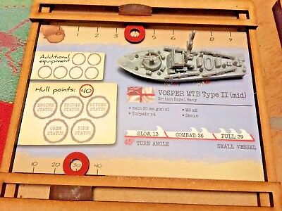 Mango Coastal Forces Ship Data Card Holder compatible with Cruel Seas x6 TRAYS - Sea Data Card