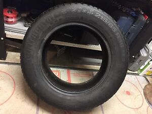 (1) ICE CONTACT 215/65 R16 M+S TIRE Peterborough Peterborough Area image 1