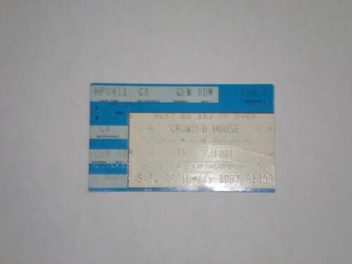 Crowded House Neil Finn Concert Ticket Stub-1987-The Palace-Los Angeles,CA