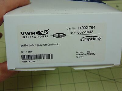 Vwr Ph Electrode Epoxy Gel Combination Cat 14002-764 Symphony New