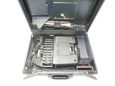 Stenograph Steno-mark Electric Court Reporting Machine W Case Tripod Psu