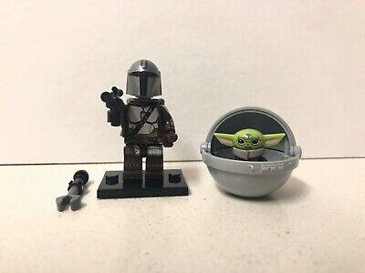 Mandalorian and Baby Yoda LEGO Minifigures - USA Seller