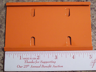 "6- ORANGE  5"" CAGE NAME PLATE HOLDERS RABBIT FERRET BIRD CAGE PET HOUSE PARTS"