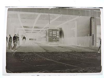 1946 Psnj New Jersey Public Service Kearny Hudson 3 5  Trolley Photo Negative
