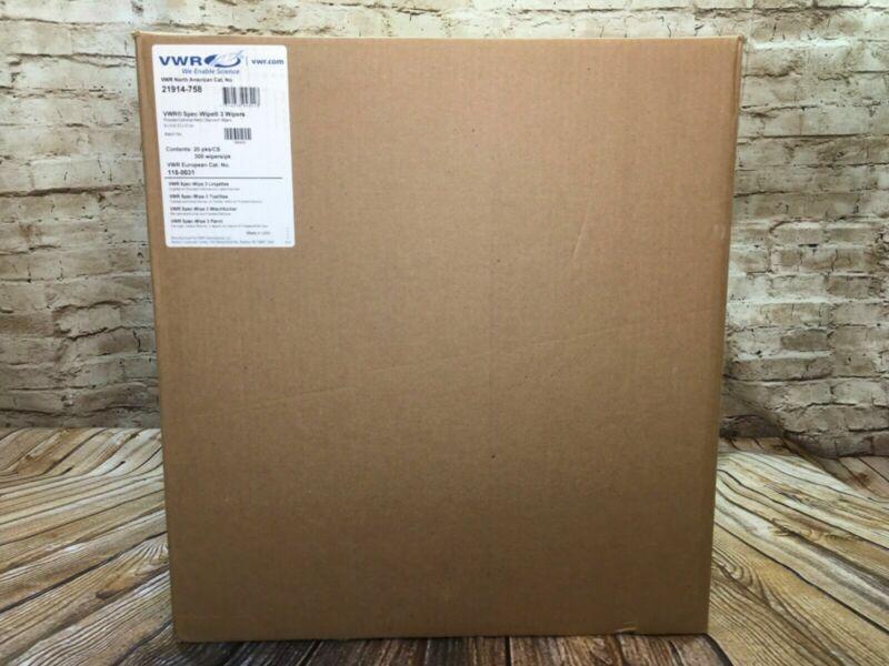 New VWR Spec-Wipe 3 wipers Sterile Wiper 21914-758 case (6000) 20x300
