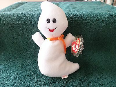 MWMT ERRORS TY BEANIE BABY 1995 SPOOKY THE GHOST PVC PELLETS MINT WITH MINT TAG