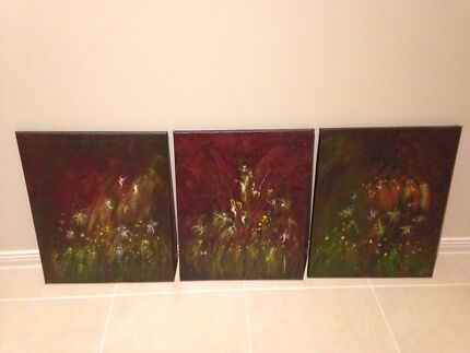 Artistic oil paintings set of 3 Cranbourne South Casey Area Preview