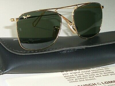 15ac9369242 B L RAY BAN ARISTA CLASSIC METALS G15 PINPOINT CARAVAN AVIATOR SUNGLASSES  MINT