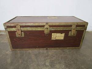 D6063 Old Shipping Travel Luggage Trunk Chest Mount Barker Mount Barker Area Preview