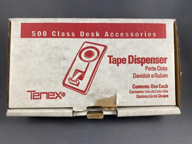 Vintage 1980 Tenex Scotch Tape Dispenser Desk Accessory #20065 SLATE GREEN