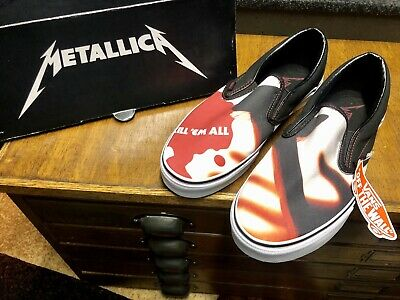 Vans Metallica Kill Em All Classic Slip-On  US 9 WMNS 10.5-NIB