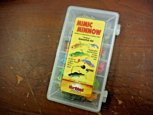 New Northland Mimic Minnow 18 Piece Gamefish Kit ** Holographic Baitfish