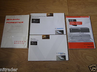 Subaru Forester Owners Handbook Set 1997 - 2002   FREE UK POSTAGE