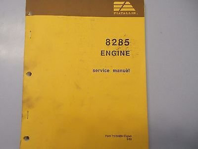 Fiat Allis 8285 Engine Form 73150208 Service Manual 989