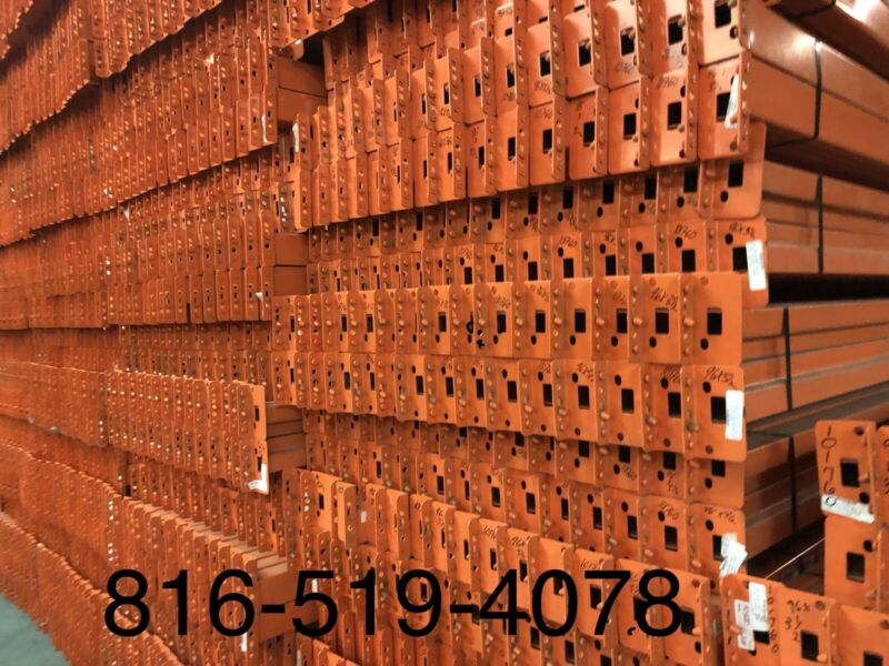 """Used Teardrop Pallet Rack Shelving Racking Sections scaffolding one beam 96""""X3.5"""