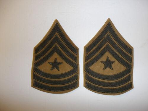 b2546p USMC 1956-58 chevron Sergeant  Major Rank summer khaki pair R7A