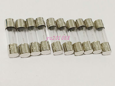 NEW 10pcs 100mA F100mA 250V Electric current 5x20mm Quick Blow Glass Fuses