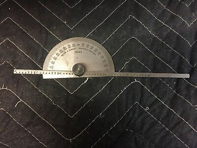 Vintage Moore Wright No.44 Depth Gauge Protractor Lathe Milling Engineering