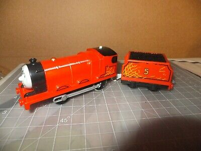 Thomas & Friends Motorized Train 2013 Mattel Rare Hay Bale James Trackmaster