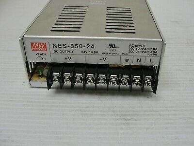 Mean Well Power Supply Nes-350-24 24 Vdc Output 14.6 Amps.