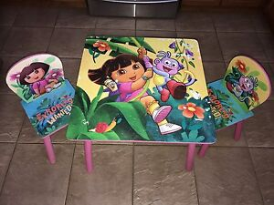 Dora the explorer Table and chair set