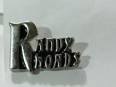 Vintage Randy Rhoads Name Metal Badge