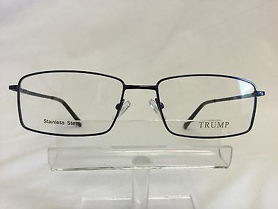 New Donald Trump Eyeglasses Sunglasses DT81 Blue Stainless Steel Spring Hinges