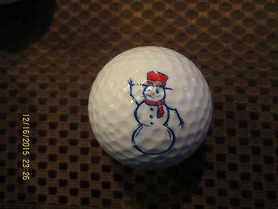 Golf Snowman (LOGO GOLF BALL-SNOWMAN....RED)