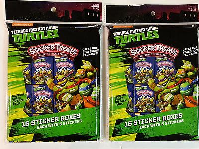 Lot of 32 Teenage Mutant Ninja Turtles Sticker Treats Boxes Packs Easter Filler