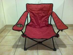 2 x Portable outdoor low camping / beach chair with carry bag