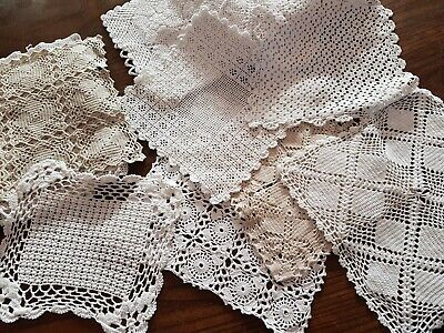 Vintage lace tablecloths bedspreads blankets HANDMADE 1:12th scale dolls house