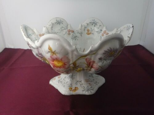 Vtg Italian Italy Faience Majolica Soft Paste Porcelain Centerpiece Bowl NOVE
