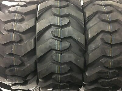 4 Tires 14-17.5 14ply Deestone D304 R4 Skid Steer Tires For All Makes 14x17.5