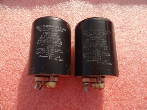 Vintage Pair Output Transformers 10 KΩ to 600 Ω