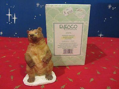 Enesco FOREST FROLIC GRIZZLY BEAR figure 1997  in box #301876   (A316N)