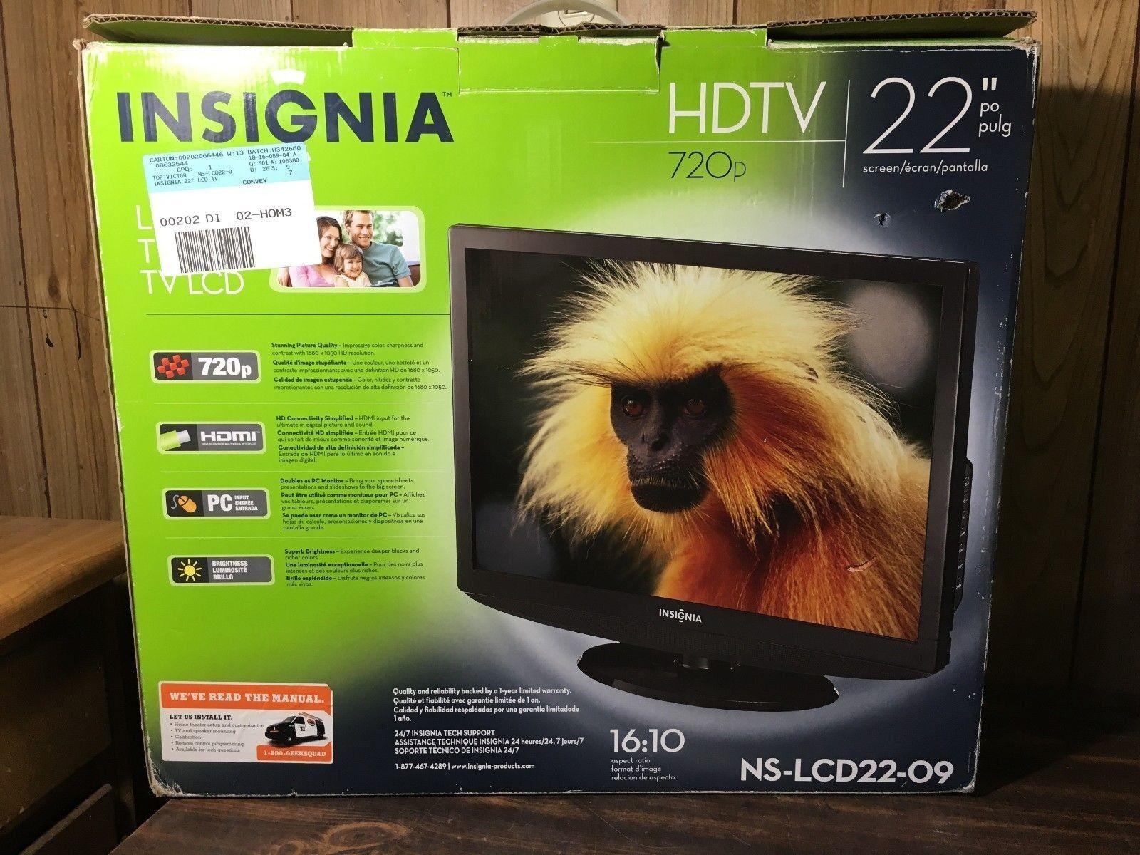 "Insignia NS-LCD22-09 22"" 720p"