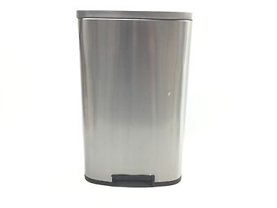 iTouchless SoftStep Trash Can Combo Pack, 13.2/1.32, Silver 13 Gal and 1.3 Gal